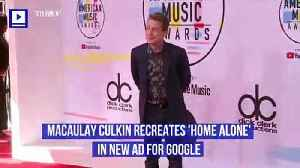 Macaulay Culkin Recreates 'Home Alone' in New Ad for Google [Video]