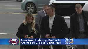 Free Agent Manny Machado Arrives At Citizens Bank Park To Meet With Phillies [Video]