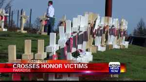 Man Puts Up Crosses to Honor Victims of Camp Fire [Video]