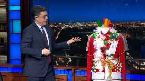 Stephen Colbert's Ultimate Christmas Sweater Can Be Yours! [Video]
