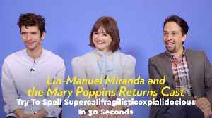 Watch Lin-Manuel Miranda Try to Spell Supercalifragilisticexpialidocious in 30 Seconds [Video]