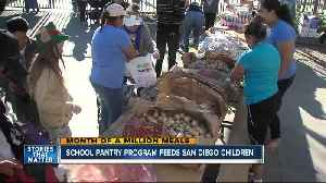 Month of a Million Meals: School pantry program helps feed San Diego kids [Video]