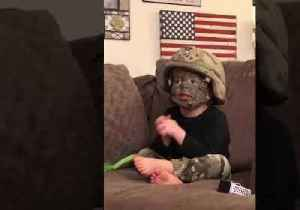 'Go Army!' Cute Kid in Camo Sings His Heart Out [Video]