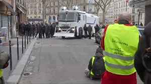 French 'yellow vest' protesters march through Paris amid low turn out [Video]