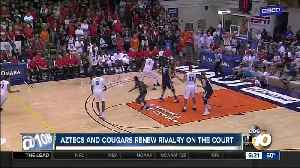 Aztecs, Cougars renew rivalry on the court [Video]