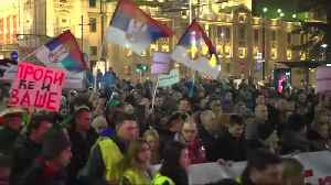 Serbians march for fairer media, an end to political violence [Video]