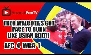 Theo Walcott's Got Pace To Burn Like Usian Bolt!! | Arsenal 4 West Brom 1 [Video]