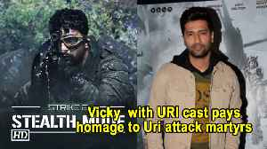 Vicky Kaushal with URI cast pays homage to Uri attack martyrs [Video]