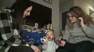 Adoptive Parents and Birth Family Celebrate Baby`s First Christmas Together [Video]