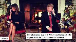 Internet Loses It After Trump Asks 7-Year-Old If He 'Still' Believes In Santa [Video]