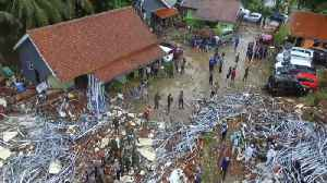 Officials in Indonesia search for victims as tsunami death toll rises [Video]