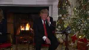 On gloomy DC Christmas, Trump takes kids' Santa calls [Video]