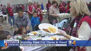 Christmas Eve Feast: Salvation Army And Safeway Serve Holiday Dinner [Video]