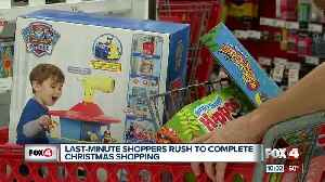 Last minute shoppers scrambe for gifts [Video]