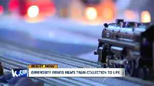 Man's selflessness turns woman's late husband's train collection into community display [Video]