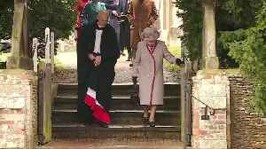 The queen and members of royal family attend Christmas Day church service [Video]