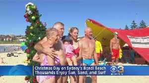 Thousands Celebrate Christmas Day On Sydney's Bondi Beach [Video]