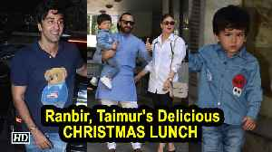 Ranbir, Taimur's Delicious CHRISTMAS LUNCH | Kapoor's Tradition [Video]