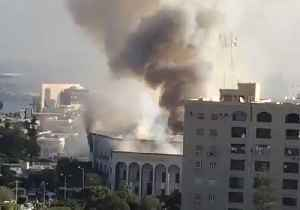 Smoke Rises From Libya's Ministry of Foreign Affairs Following Suicide Bomb Attack [Video]