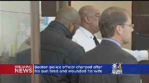 Boston Police Officer Charged After Gun Fired, Wounded Wife [Video]