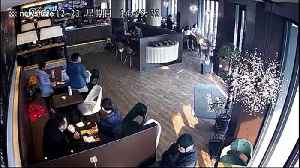 Two injured when unlicensed drunk driver ploughs car into busy restaurant [Video]