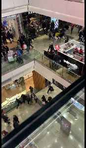 Boxing Day Shoppers Flee London Mall [Video]