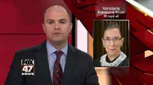 News video: Ruth Bader Ginsburg released from hospital after surgery to remove cancerous cells