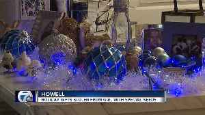 Christmas presents stolen from Howell girl with special needs [Video]