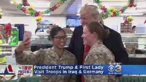 Trump, First Lady Surprise Troops In Iraq And Germany [Video]