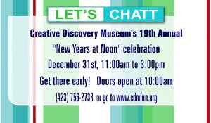 Creative Discovery Museum sponsors New Years at Noon -- you know, for kids. [Video]