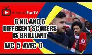 5 Nil and 5 Different Scorers is Brilliant - Arsenal 5 Aston Villa 0 [Video]