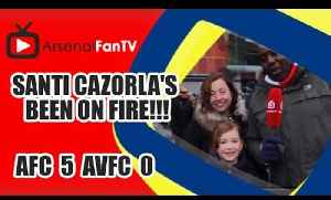 Santi Cazorla's Been On Fire!!! - Arsenal 5 Aston Villa 0 [Video]