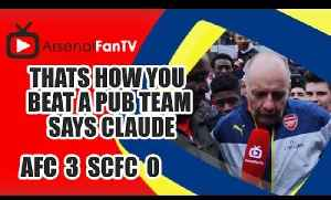 Thats How You Beat A Pub Team says Claude - Arsenal 3 Stoke City 0 [Video]