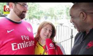 US Couple Celebrate Honeymoon at The North London Derby [Video]