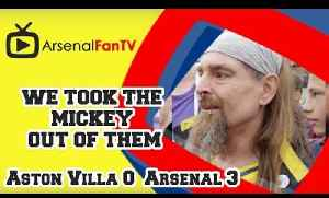 We Took The Mickey says Bully - Aston Villa 0 Arsenal 3 [Video]