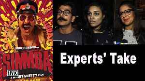 Experts' Take | Simmba | A treat to watch Ranveer as Simmba [Video]