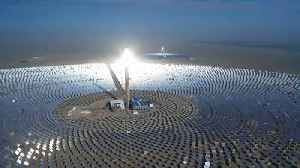 China's first 100MW solar power plant turned on [Video]