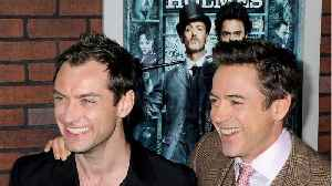 Robert Downey Jr. Sends Sweet Birthday Message To Jude Law [Video]