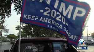Teen Trump supporter asked to take down 'Trump 2020' flag from truck while working in Boca Raton [Video]