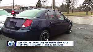 Group of charities help buy new car from mother with stage IV cancer [Video]