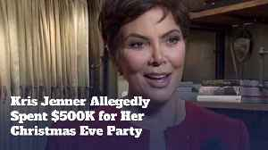 Kris Jenner Spends Some Serious Cash For Christmas Bash [Video]