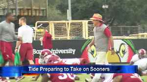 Tide prepare to take on Sooners [Video]