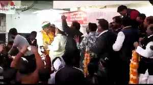 Stage collapses beneath new minister and his supporters in India [Video]