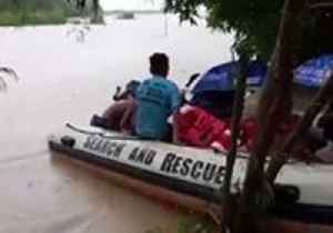 Firefighters Rescue Villagers Trapped by Flooding in The Philippines Amid Tropical Depression Usman [Video]
