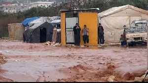 Heavy rains, floods displace thousands of refugees in Syria [Video]