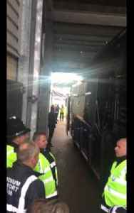 Arsenal Players arriving at The Liberty Stadium to play Swansea [Video]