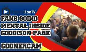 Fans Going Mental Inside Goodison Park - Everton 2 Arsenal 2 [Video]