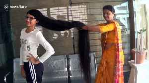 Is this Rapunzel in real life? Indian girl sets world record with five foot, seven inches-long hair [Video]