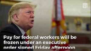 Trump Signs Executive Order Freezing Pay Rate for Federal Workers [Video]