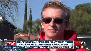 Boy Scout Troop 712 pick up Christmas trees [Video]